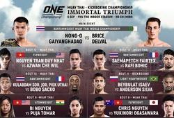 ONE CHAMPIONSHIP công bố lịch thi đấu chính thức cho ONE: IMMORTAL TRIUMPH