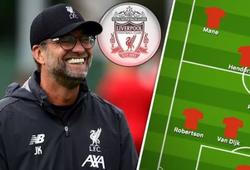 Liverpool lựa chọn hàng tiền vệ nào để đối phó với Arsenal?