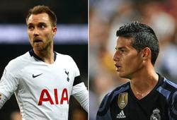 Chuyển nhượng Real Madrid 26/8: Real nhận tin vui từ Eriksen và James Rodriguez