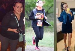 """Cô gái """"tuổi băm"""" giảm hơn 45kg nhờ ăn tập theo ứng dụng điện thoại"""