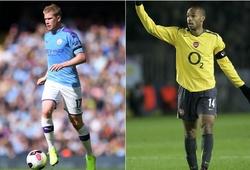 De Bruyne sẽ san bằng 2 kỷ lục của Henry ở trận Norwich vs Man City?