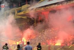 Hà Nội FC lên án hành vi đốt pháo sáng ở sân Hàng Đẫy