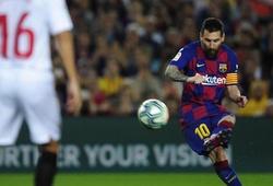 Messi nhắm tới mốc ghi bàn bằng đá phạt độc nhất vô nhị