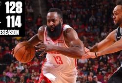 James Harden ghi 40 điểm nhưng Houston Rockets vẫn thua San Antonio Spurs