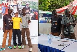Hai elite Kenya được săn đón ngay khi tới lấy racekit VPBank Hanoi Marathon 2019
