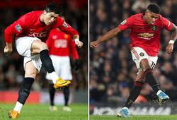 Rashford và Ronaldo có kỹ thuật đá phạt ở MU giống nhau như thế nào?