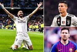 Benzema đạt hiệu suất ghi bàn tốt hơn cả Messi và Ronaldo