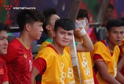 Quang Hải biểu cảm dễ thương ở trận U22 Việt Nam gặp U22 Thái Lan