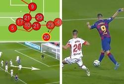 Suarez đánh gót ghi bàn kinh ngạc sau màn phối hợp mãn nhãn của Barca