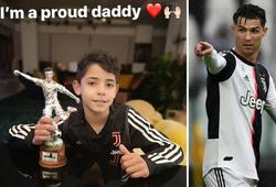 Ronaldo cha tự hào với giải thưởng đáng giá của con trai ở Juventus