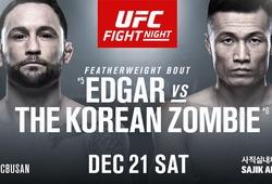UFC Busan: 'Korean Zombie' lạnh lùng knockout lão tướng Frankie Edgar ngay hiệp 1