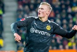 Haaland trùng hợp kỳ lạ với Aubameyang khi lập hat-trick cho Dortmund