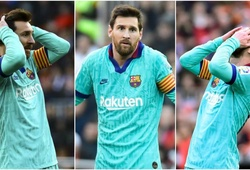 Messi san bằng kỷ lục tệ nhất về dứt điểm với Barca khi thua Valencia