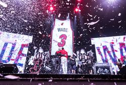 """Miami Heat chính thức treo áo Dwyane Wade, bảo toàn di sản bất diệt của """"The Flash"""""""
