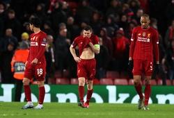 Liverpool bị loại ở Cúp C1 với kết cục chưa từng xảy ra thời Klopp