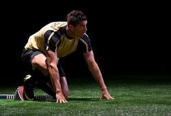 Ronaldo so tài thế nào với VĐV chạy nước rút chuyên nghiệp?