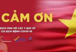 Thể thao Việt Nam đồng thanh nói lời XIN CẢM ƠN các y bác sỹ chống dịch COVID-19