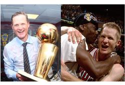 Vì sao HLV Steve Kerr than… mệt vì vô địch cùng đội hình huyền thoại Chicago Bulls?