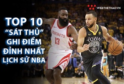 """Điểm lại top 10 cầu thủ ghi điểm xuất sắc nhất lịch sử NBA và """"vũ khí"""" ưa thích của họ (kỳ 1)"""