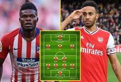 Đội hình Arsenal mùa tới sẽ thế nào với Partey và một tiền đạo mới?