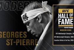 Huyền thoại MMA Georges St-Pierre được vinh danh tại sảnh danh vọng UFC