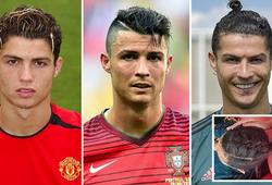 Ronaldo trải qua bao nhiêu kiểu tóc trong sự nghiệp?