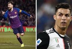 Ronaldo và Messi xếp sau 2 cầu thủ Serie A về bàn thắng cố định
