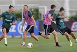 Ronaldo khiến đồng đội nể phục khi đến sân tập khác thường