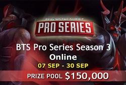 Lịch thi đấu Dota 2 BTS Pro Series Season 3 SEA: Đồng hành cùng 496
