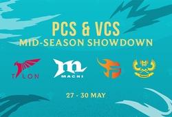 Team Flash và GAM Esports đại diện VCS thi đấu với PCS