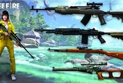 Top 5 súng bắn tầm xa Free Fire: AWM vô đối?