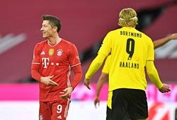 Haaland lập cú đúp chớp nhoáng vẫn thua hat-trick của Lewandowski