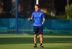 Mancini tính thay đổi hàng tiền vệ của Italia ở chung kết gặp Anh