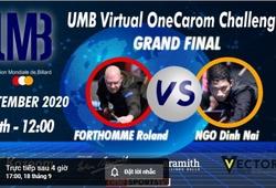 """Video trực tiếp chung kết Bi-a thế giới: """"Vua cơ điên"""" Đình Nại tái đấu Roland Forthomme"""