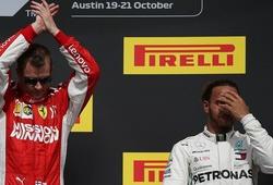 Đua chính thức US GP: Raikkonen xuất thần, Hamilton lỡ ngày đăng quang sớm