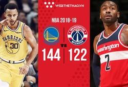 Chỉ cần 3 hiệp là đủ để Stephen Curry ném 3 điểm nghiền nát Washington Wizards
