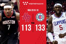 Dù chỉ đụng dự bị của LA Clippers, Houston Rockets cũng không thể biến mùa hạ thành đông