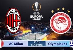 Nhận định tỷ lệ cược kèo bóng đá tài xỉu trận AC Milan vs Olympiakos