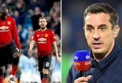 Gary Neville chỉ ra 3 vấn đề gây sốc khiến Man Utd thất bại ở trận derby