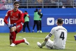 """Hiệu suất bàn thắng bại đang ở """"kỷ lục đèn đỏ"""" báo hiệu điều gì với Real Madrid?"""