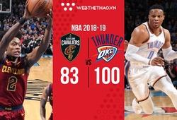 """""""Thánh triple-double"""" chính thức trở lại, Russell Westbrook cân bằng kỷ lục của huyền thoại Jason Kidd"""