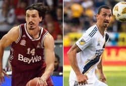 """""""Chúa của Los Angeles"""" Zlatan Ibrahimovic có em song sinh chơi bóng rổ chuyên nghiệp?"""