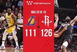James Harden khiến Los Angeles Lakers ôm hận rời Houston
