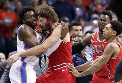Chicago Bulls và Oklahoma City Thunder xô xát, Aquaman Steven Adams lại ra tay nghĩa hiệp