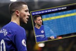 Choáng với thống kê chỉ ra Chelsea đang hít thở để sống nhờ đôi chân Eden Hazard