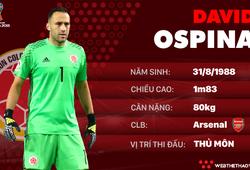 Thông tin cầu thủ David Ospina của ĐT Colombia dự World Cup 2018