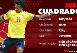 Thông tin cầu thủ Juan Cuadrado của ĐT Colombia dự World Cup 2018