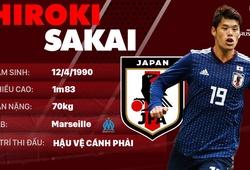 Thông tin cầu thủ Hiroki Sakai của ĐT Nhật Bản dự World Cup 2018