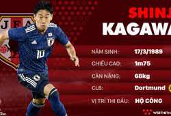 Thông tin cầu thủ Shinji Kagawa của ĐT Nhật Bản dự World Cup 2018