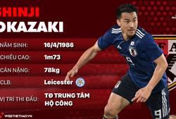 Thông tin cầu thủ Shinji Okazaki của ĐT Nhật Bản dự World Cup 2018